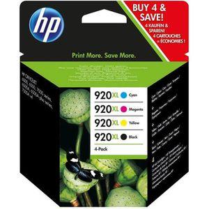 CARTOUCHE IMPRIMANTE HP 920XL pack de 4 cartouches d'encre noire/cyan/m