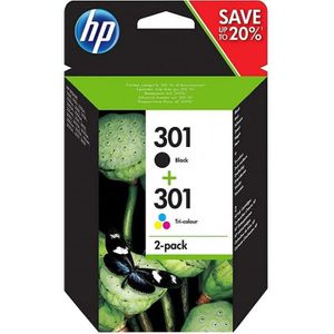 CARTOUCHE IMPRIMANTE HP 301 pack de 2 cartouches d'encre noire/trois co