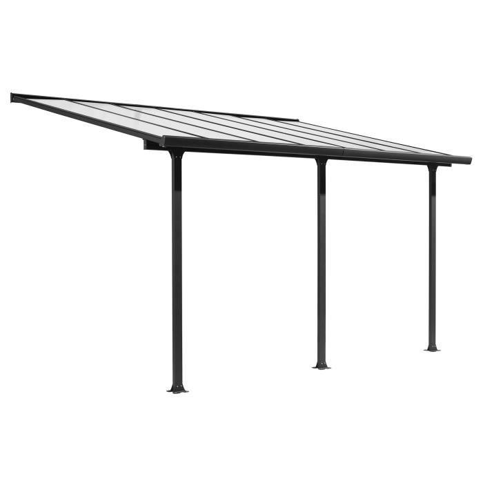CARPORT Toit-terrasse aluminium 12,83 m² - 418 x 307 cm -