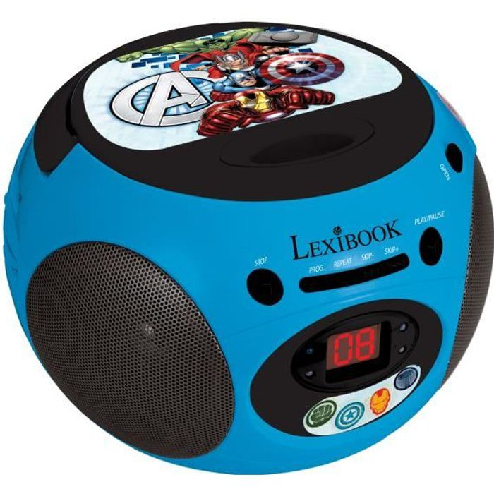 avengers lecteur cd enfant radio lexibook achat. Black Bedroom Furniture Sets. Home Design Ideas