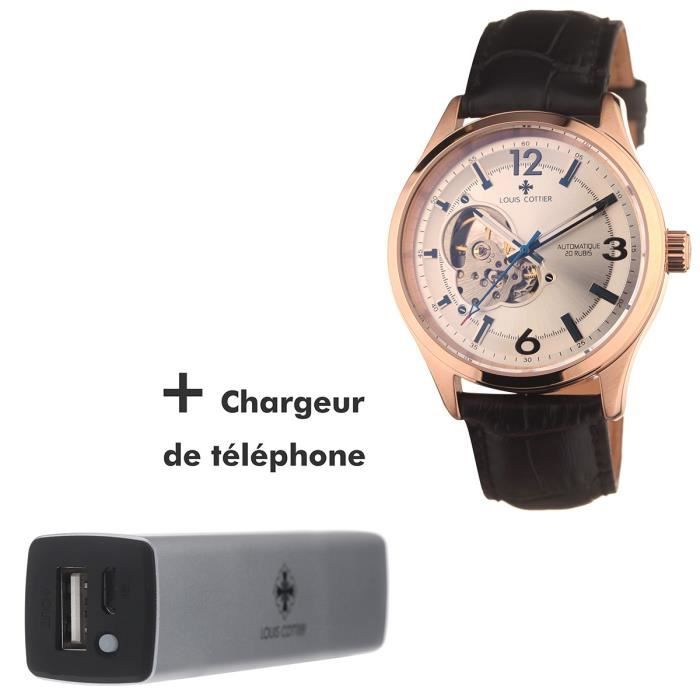 MONTRE LOUIS COTTIER Coffret Montre Automatique Prestige