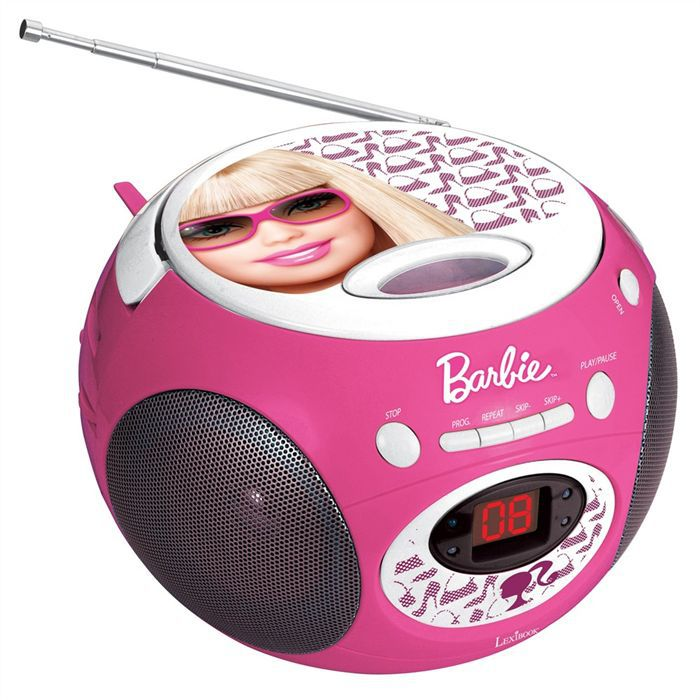 barbie boombox lecteur cd radio enfant lexibook achat. Black Bedroom Furniture Sets. Home Design Ideas