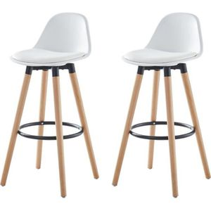 TABOURET DE BAR BRIT Lot De 2 Tabourets Bar