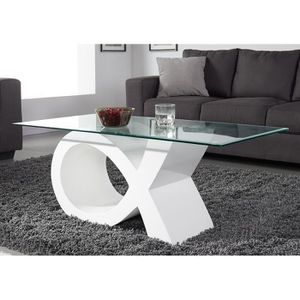 Table basse laque blanc achat vente table basse laque - Table basse laque blanc brillant ...