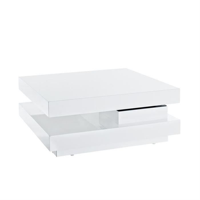Roll table basse blanche achat vente table basse roll table basse blanche - Table basse blanche moderne ...
