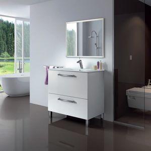SALLE DE BAIN COMPLETE URBAN Meuble salle de bain L 80 cm avec miroir - B