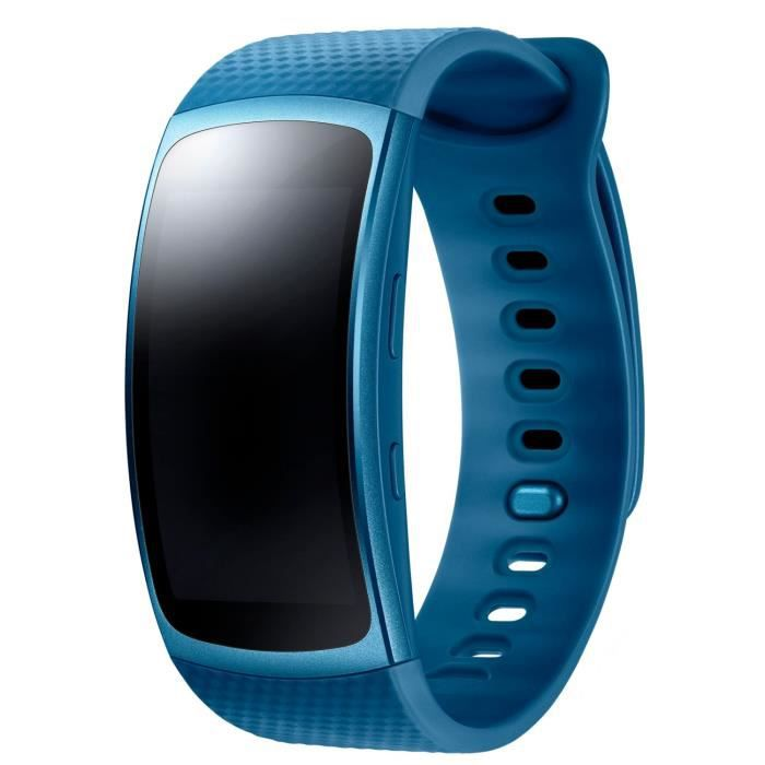 samsung bracelet gear fit 2 bleu small achat montre connect e pas cher avis et meilleur prix. Black Bedroom Furniture Sets. Home Design Ideas