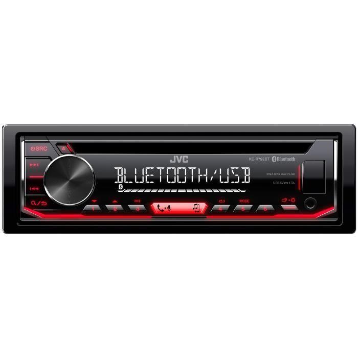 autorradio con Bluetooth//USB//AUX-in JVC kd-r792bt cd//mp3