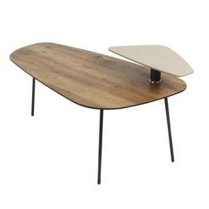 TABLE BASSE CARPI Table basse style contemporain en métal noir
