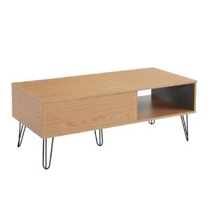 table basse chene clair achat vente table basse chene. Black Bedroom Furniture Sets. Home Design Ideas