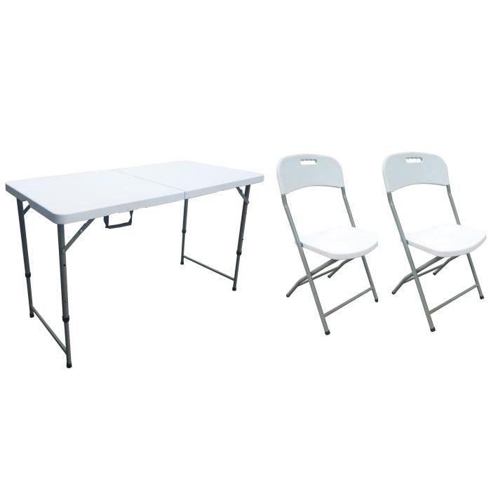 Table pliante 2 chaise