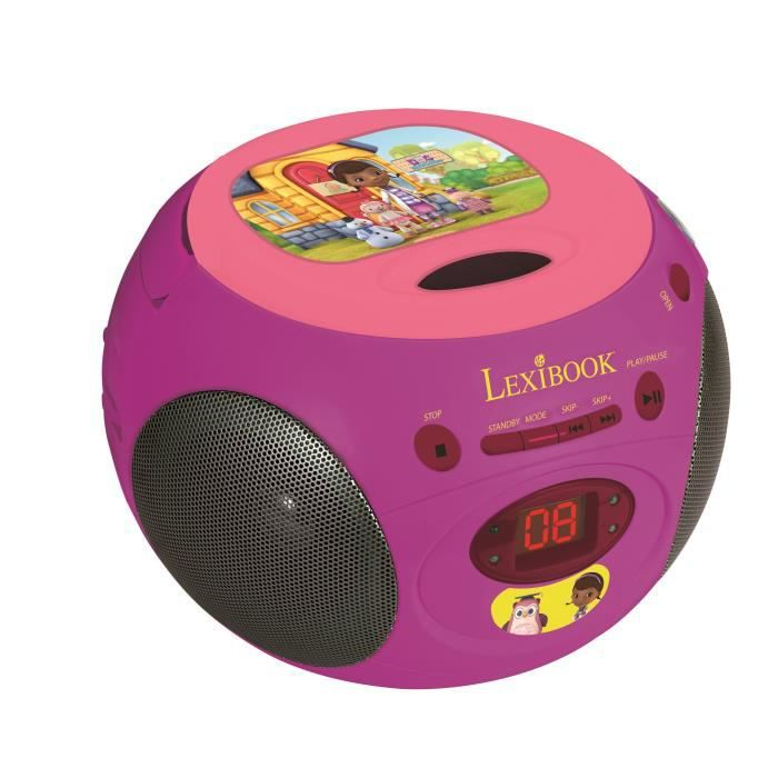 docteur la peluche lecteur cd radio lexibook achat. Black Bedroom Furniture Sets. Home Design Ideas