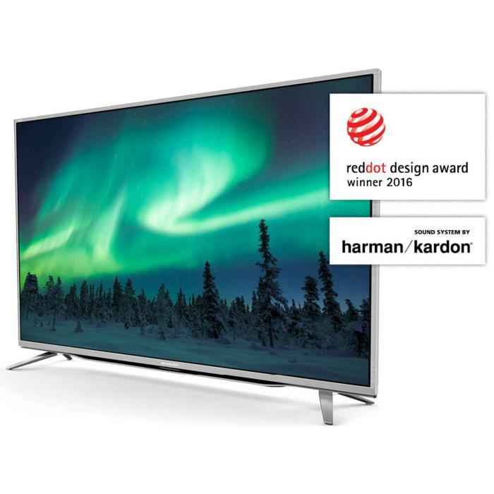 sharp lc55cuf8472es tv led 4k uhd 139 cm 55 son by harman kardon smart tv 3xhdmi. Black Bedroom Furniture Sets. Home Design Ideas