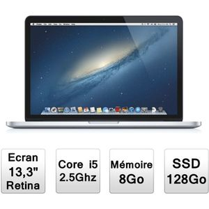 """PC Portable Apple MacBook Pro 13"""" avec écran Retina (MD212F/A) pas cher"""