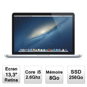 """Achat PC Portable Apple Macbook Pro 13"""" avec écran Retina (ME662F/A) pas cher"""