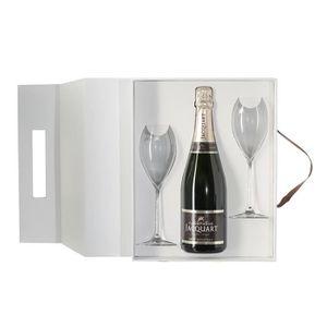 COFFRET CADEAU VIN Champagne Jacquart Mosaïque Coffret 2 flûtes Brut