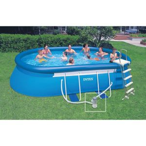 INTEX Ellipse Piscine ovale autoportante 5,49x3,05x1,07m