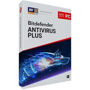 ANTIVIRUS Bitdefender Antivirus Plus 2019 - 1 an - 1 PC