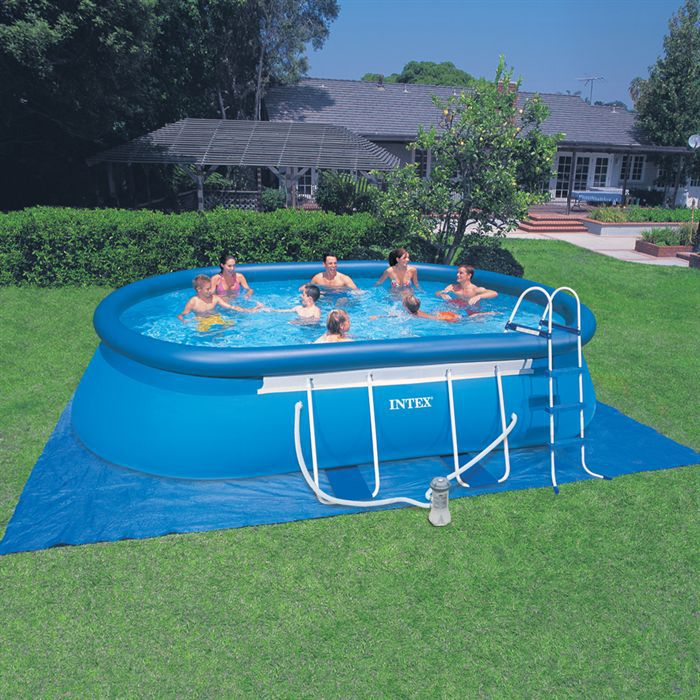 Piscine intex ellipse autostable achat vente for Piscine coque polyester soldes