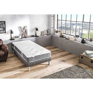 ENSEMBLE LITERIE CONFORT DESIGN Ensemble matelas + sommier 90 x 190