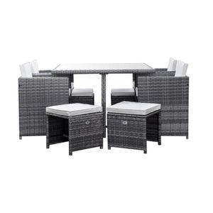 SALON DE JARDIN  CARIOCA2 Ensemble repas de jardin encastrable - ta
