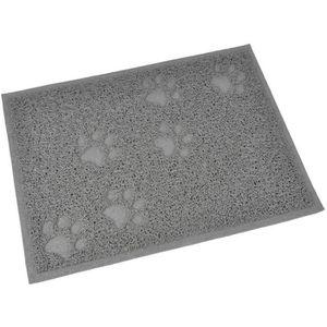 MAISON DE TOILETTE Tapis de litière PVC rectangle - 30x40 cm - Gris -