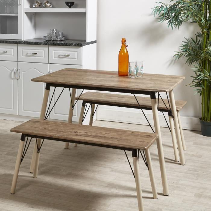 TABLE DE CUISINE  BRANTFORD Ensemble table et chaises de 4 à 6 perso