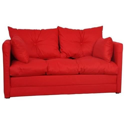 Canap convertible switsofa roma rouge achat vente canap sofa divan - Canape convertible deplimousse ...