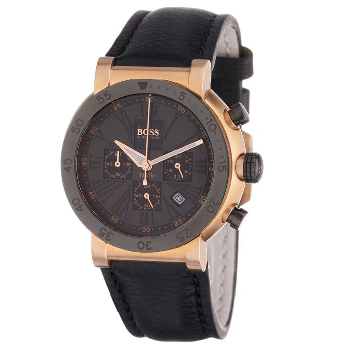 hugo boss montre chronographe homme achat vente montre cdiscount. Black Bedroom Furniture Sets. Home Design Ideas