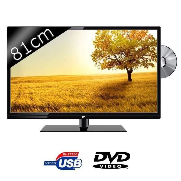 Destockage continental edison led32dvd2 tv led hd combo dvd 81cm 32 - Destockage televiseur led ...
