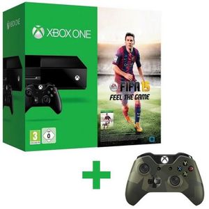 CONSOLE XBOX ONE Pack XBOX One + FIFA 15 + Manette Camouflage M90