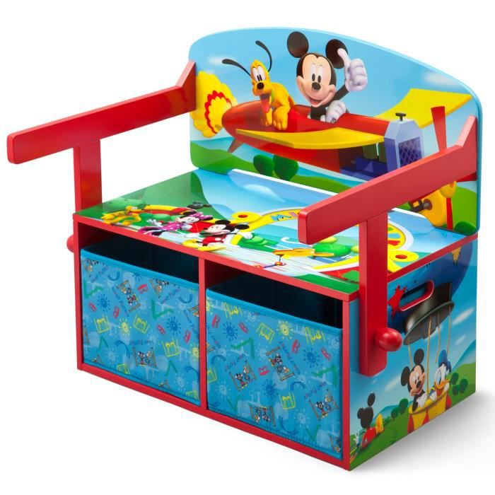 mickey banc bureau et rangement enfant 3 en 1 achat vente bureau b b enfant mickey banc. Black Bedroom Furniture Sets. Home Design Ideas