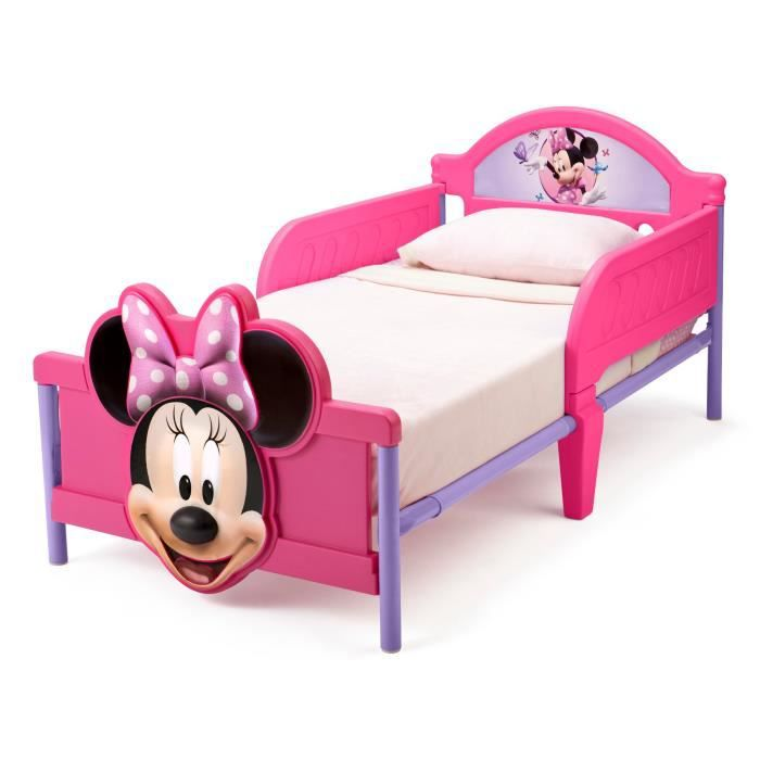minnie lit enfant 70 x 140 cm achat vente structure de lit cdiscount. Black Bedroom Furniture Sets. Home Design Ideas