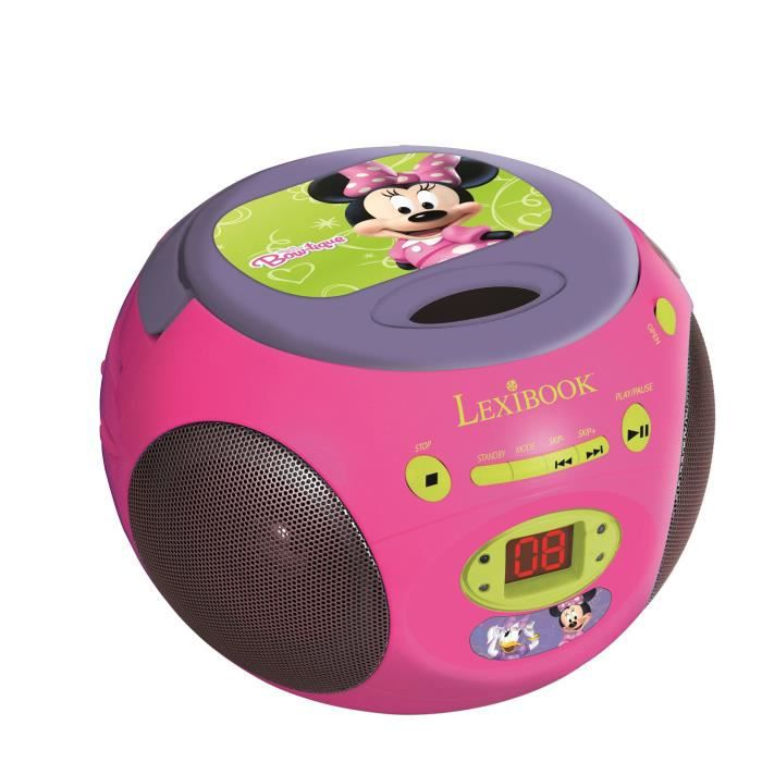 minnie radio lecteur cd lexibook achat vente lecteur cd dvd enfant lexibook boombox minnie. Black Bedroom Furniture Sets. Home Design Ideas