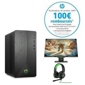 UNITÉ CENTRALE + ÉCRAN HP PC de Bureau Pavilion Gaming 690-0042nf - Core