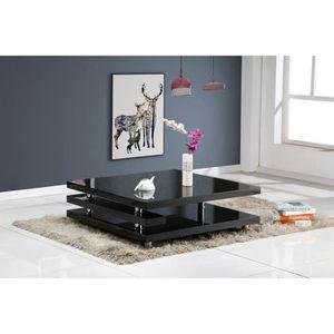 TABLE BASSE RENATO Table basse style contemporain noir laqué -