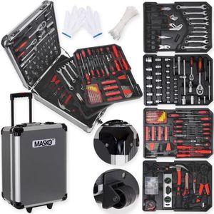 PACK OUTIL A MAIN MASKO Valise multi outils 725 pièces noir