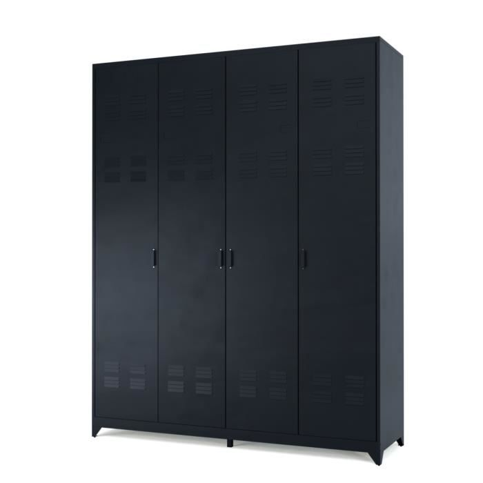 armoire m tallique achat vente armoire m tallique pas cher cdiscount. Black Bedroom Furniture Sets. Home Design Ideas