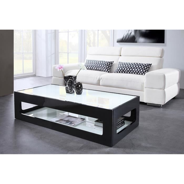 Heaven table basse rectangulaire 120x60cm laqu e noir - Table basse noire laquee ...