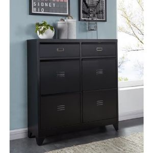meuble chaussure metal. Black Bedroom Furniture Sets. Home Design Ideas