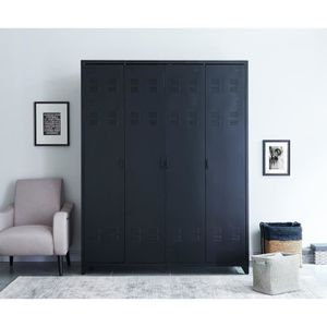 armoire penderie industrielle achat vente armoire penderie industrielle pas cher cdiscount. Black Bedroom Furniture Sets. Home Design Ideas