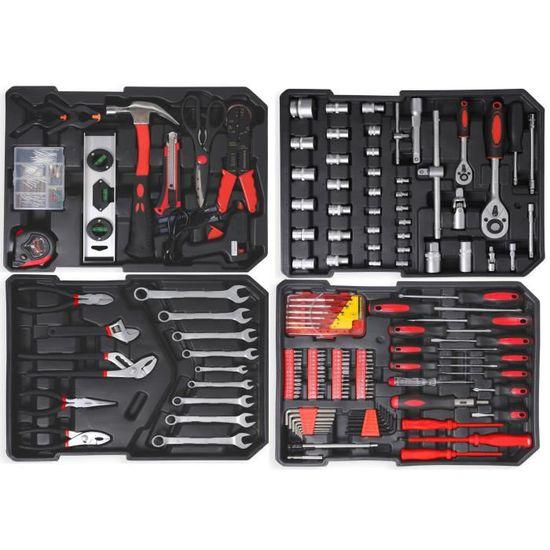 Household Tool Kit Boîte Outils à main Set Heavy Duty Tournevis Clé Réparation À faire soi-même