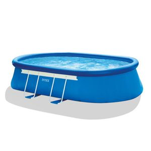 PISCINE INTEX Kit Piscine ovale Ellipse autoportée - L5,49