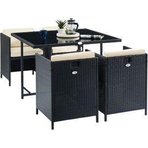Ensemble table et chaise de jardin CARIOCA2 Ensemble repas de jardin - table 110x110c