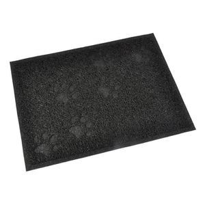 MAISON DE TOILETTE Tapis de litière PVC rectangle - 30x40 cm - Noir -