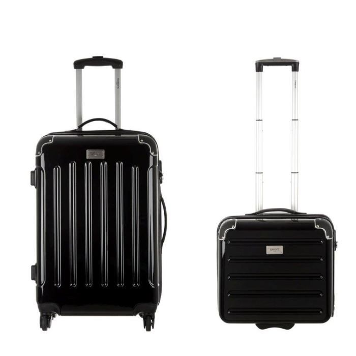 torrente set valise trolley pilote case trolley noir achat vente set de valises. Black Bedroom Furniture Sets. Home Design Ideas