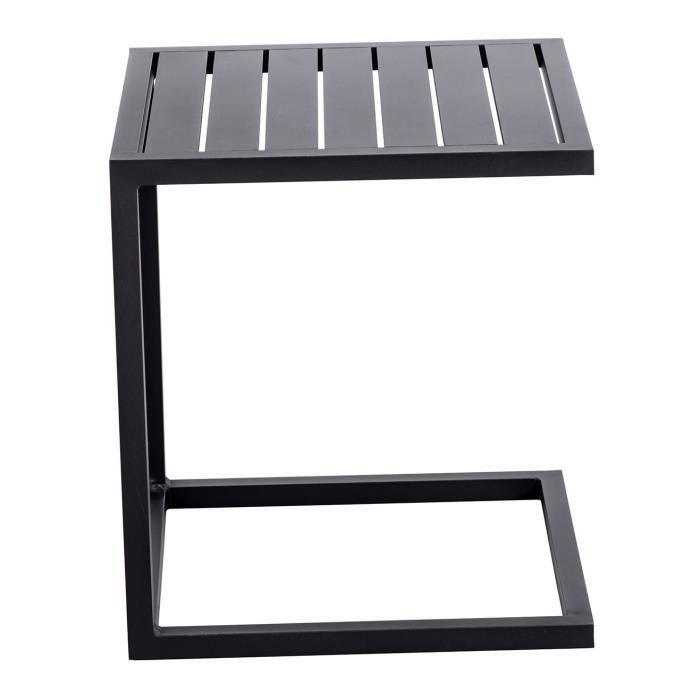 Table basse jardin aluminium
