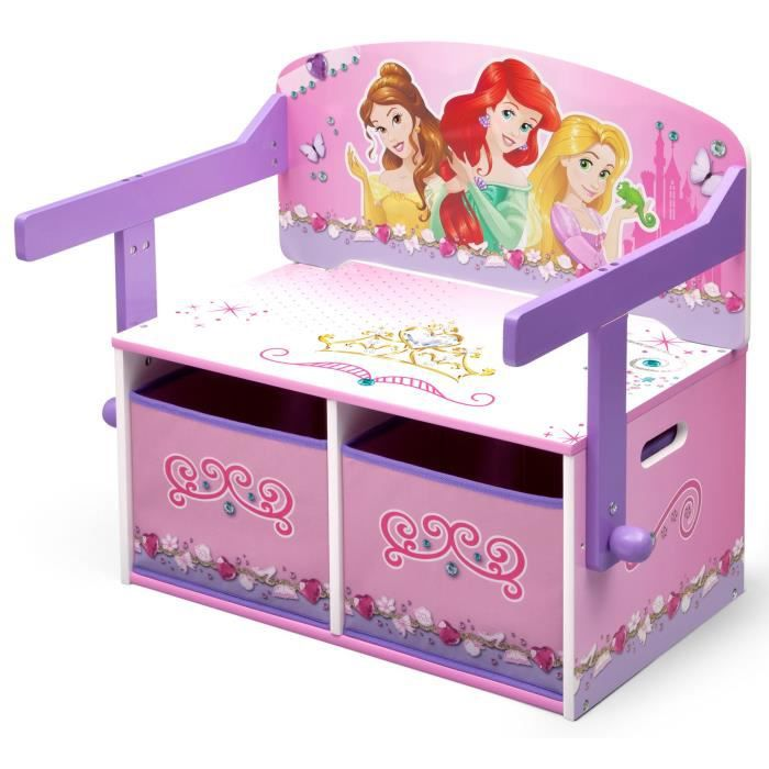disney princesses bureau convertible enfant bois avec rangement achat vente bureau b b. Black Bedroom Furniture Sets. Home Design Ideas