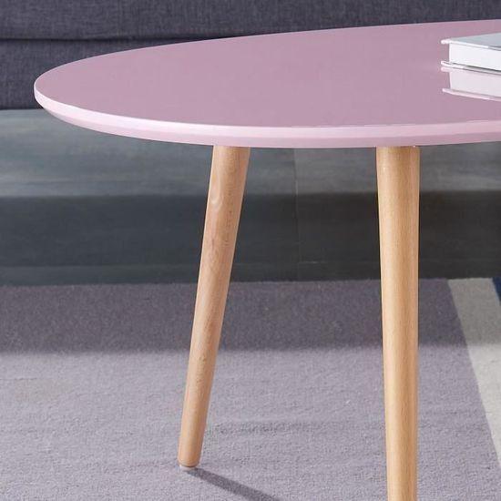L basse l STONE ovale Table rose 61 x pastel cm scandinave laqué 98 PkXOZliuwT