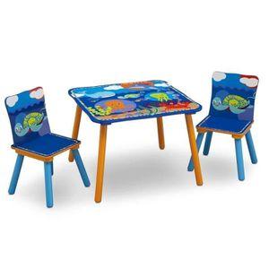 TABLE ET CHAISE Ensemble Table et 2 Chaises Bois Enfant - Océan
